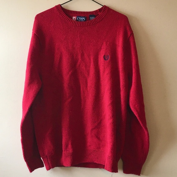 Chaps Red Knit Sweater - M